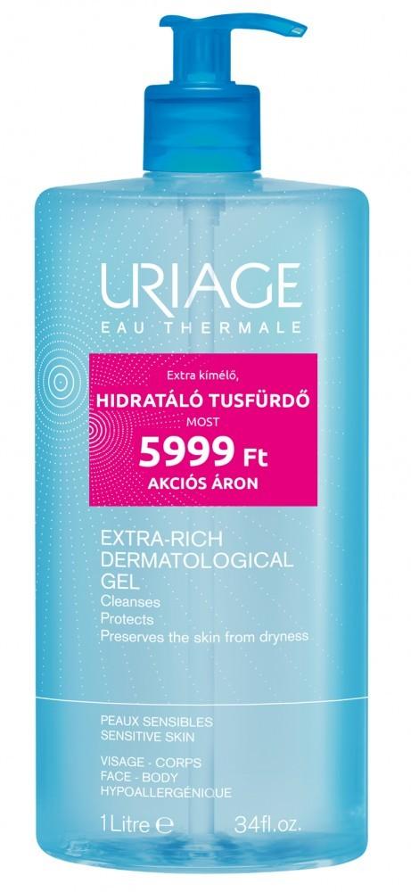 Uriage surgras gel dermatologique tusfürdő 1000 ml akciós kiszerelés 1000ml